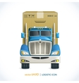Logistic icon truck vector image vector image