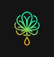 logo medical cannabis vector image vector image