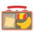 Lunchbox with school lunch vector image vector image