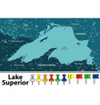 map of lake superior vector image vector image