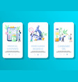 medical cannabis mobile app onboarding screens vector image vector image