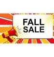 Megaphone with FALL SALE announcement Flat style vector image vector image
