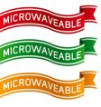 microwaveable package label vector image vector image