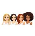 multiethnic women vector image vector image