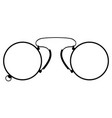pince-nez old retro vintage icon stock vector image vector image