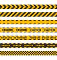 police crime scene barrier tape seamless set on vector image vector image