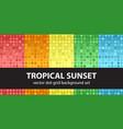 polka dot pattern set tropical sunset seamless vector image vector image