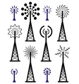 radio towers vector image