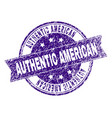 scratched textured authentic american stamp seal vector image