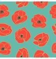 Seamless pattern with hand drawn poppy flowers vector image