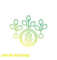 seed money icon linear vector image