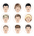 Set of boys faces vector image vector image