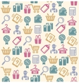 Set of shopping icons pattern vector image