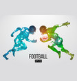 silhouette of a american football rugby vector image vector image