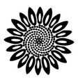 spiral flower icon simple style vector image