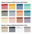 spring summer 2020 tartan seamless pattern vector image