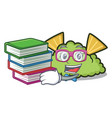 student with book guacamole mascot cartoon style vector image vector image