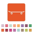 The skateboard icon Sport symbol Flat vector image