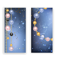 Two Banners with Beads vector image
