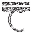vines border have a intertwined bives and birds vector image vector image