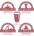 vintage grunge labels set pub and pizza vector image vector image