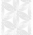 White geometrical flower like shapes seamless vector image vector image