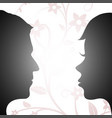 woman and man looking at each other vector image