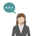 Woman in call center vector image vector image