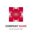 logo red abstract design banner icon business vector image