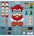 Hipster character vector image