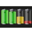 Set of rechargeable batteries with indication vector image