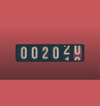 2020 new year analog counter display retro style vector image