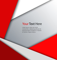 Abstract red white triangles background vector image vector image