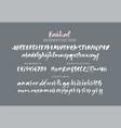 baikal handwritten brush font vector image
