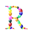 balloon alphabets letter vector image