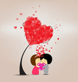 Be happy valentines day vector image