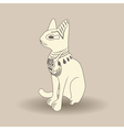 Beige Egyptian cat vector image