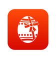 big easter egg icon digital red vector image vector image