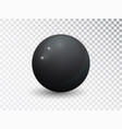 black clear ball isolated on transparent vector image