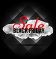 black friday sale banner in dark background vector image vector image
