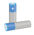 Blue batteries vector image