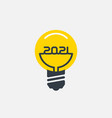 bright ideas for business in 2021 stylized light vector image