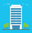 business building with trees urban architecture vector image