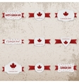Canada Day textile Emblems Set vector image vector image