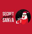 cartoon secret santa perty christmas flat vector image vector image