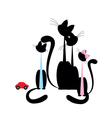 cat family vector image vector image