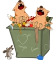 Cats and Waste container The cats concerto vector image