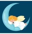 christmas holiday flying angel with wings sleep on vector image vector image