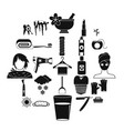 clean icons set simple style vector image
