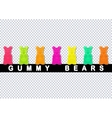 Colored gummy bears vector image vector image
